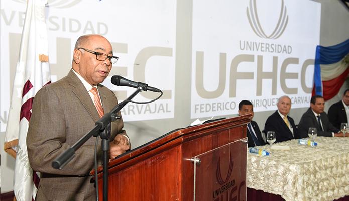Magistrado Milton Ray Guevara en la UFHEC